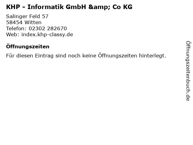 KHP - Informatik GmbH & Co KG in Witten: Adresse und Öffnungszeiten