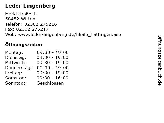 Leder Lingenberg in Witten: Adresse und Öffnungszeiten