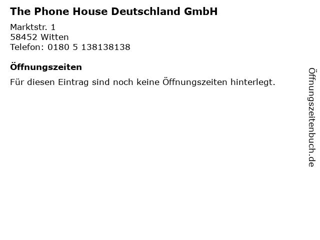 The Phone House Deutschland GmbH in Witten: Adresse und Öffnungszeiten