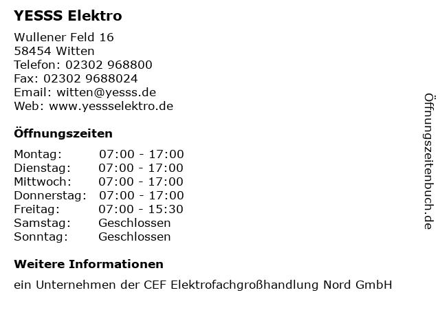 YESSS Elektro in Witten: Adresse und Öffnungszeiten