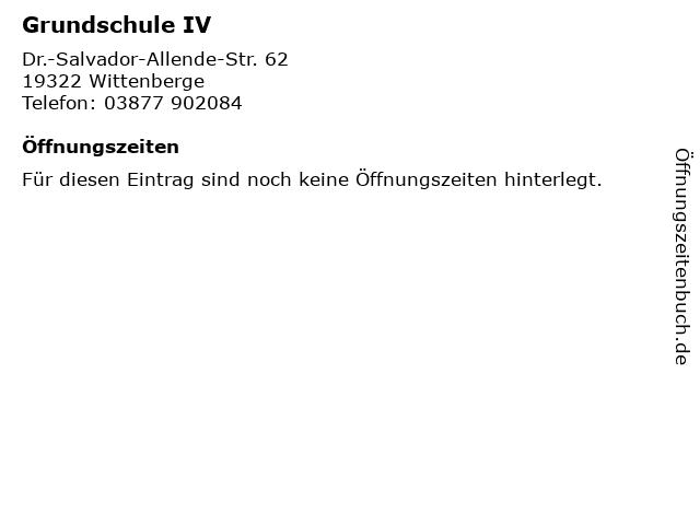 Grundschule IV in Wittenberge: Adresse und Öffnungszeiten