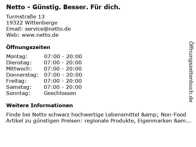 Netto Deutschland - schwarz-gelber Discounter mit dem Scottie in Wittenberge: Adresse und Öffnungszeiten