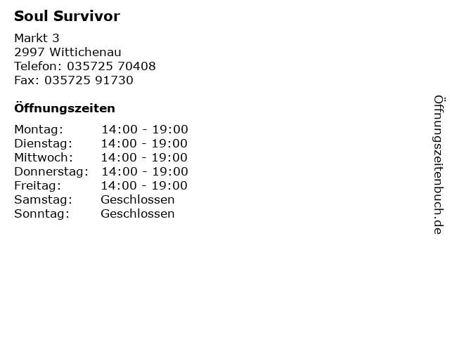 Soul Survivor in Wittichenau: Adresse und Öffnungszeiten