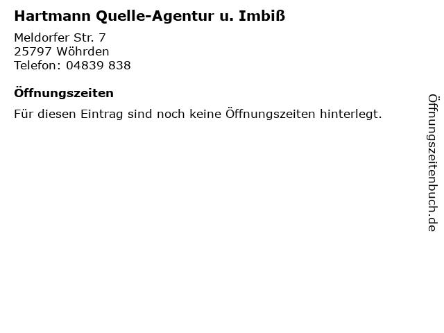 Hartmann Quelle-Agentur u. Imbiß in Wöhrden: Adresse und Öffnungszeiten