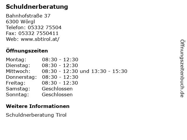Schuldnerberatung in Wörgl: Adresse und Öffnungszeiten