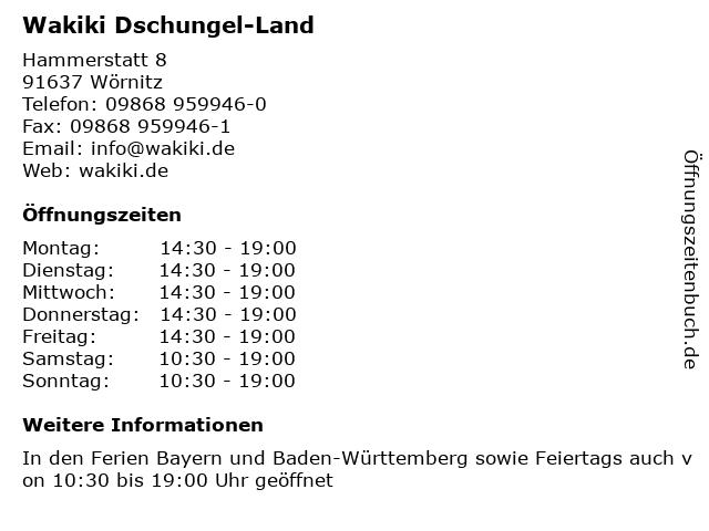 Wakiki Dschungel-Land in Wörnitz: Adresse und Öffnungszeiten