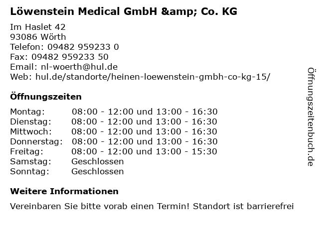 Löwenstein Medical GmbH & Co. KG in Wörth: Adresse und Öffnungszeiten