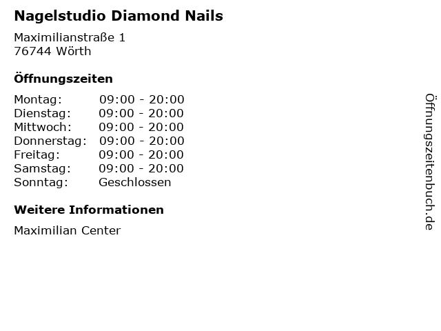 Nagelstudio Diamond Nails in Wörth: Adresse und Öffnungszeiten