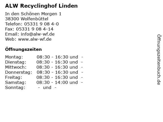 ALW Recyclinghof Linden in Wolfenbüttel: Adresse und Öffnungszeiten