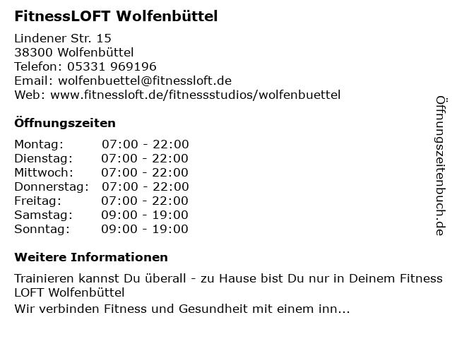 Fitnessloft in Wolfenbüttel: Adresse und Öffnungszeiten