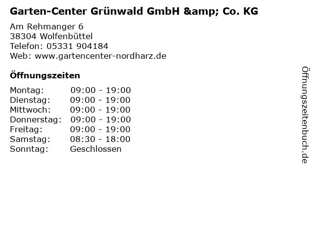 Garten-Center Grünwald GmbH & Co. KG in Wolfenbüttel: Adresse und Öffnungszeiten
