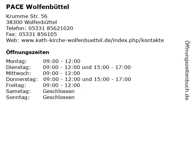 PACE Wolfenbüttel in Wolfenbüttel: Adresse und Öffnungszeiten