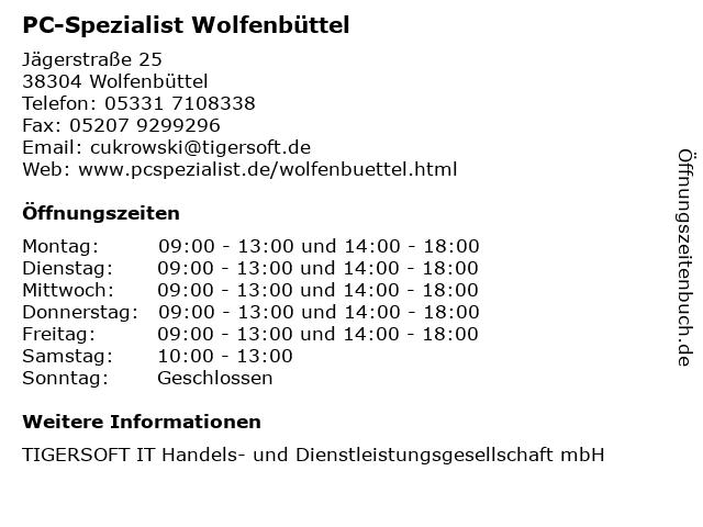 PC-Spezialist Wolfenbüttel in Wolfenbüttel: Adresse und Öffnungszeiten