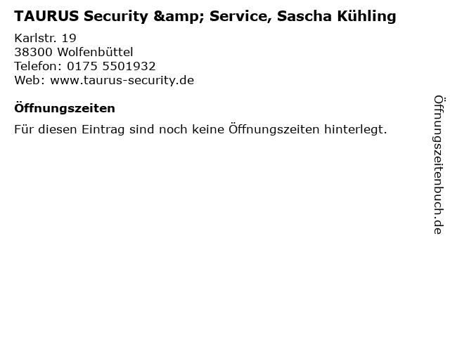 TAURUS Security & Service, Sascha Kühling in Wolfenbüttel: Adresse und Öffnungszeiten