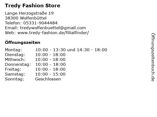 Tredy Fashion Store in Wolfenbüttel: Adresse und Öffnungszeiten