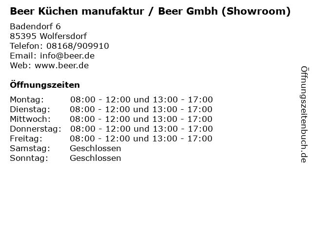 ᐅ Offnungszeiten Schreinerei Beer Gmbh Badendorf 6 In Wolfersdorf