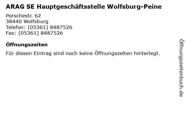 ARAG SE Hauptgeschäftsstelle Wolfsburg-Peine in Wolfsburg: Adresse und Öffnungszeiten