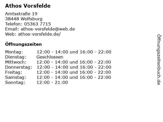 Restaurant Athos in Vorsfelde: Adresse und Öffnungszeiten