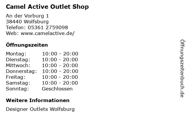 Camel Active Outlet Shop in Wolfsburg: Adresse und Öffnungszeiten