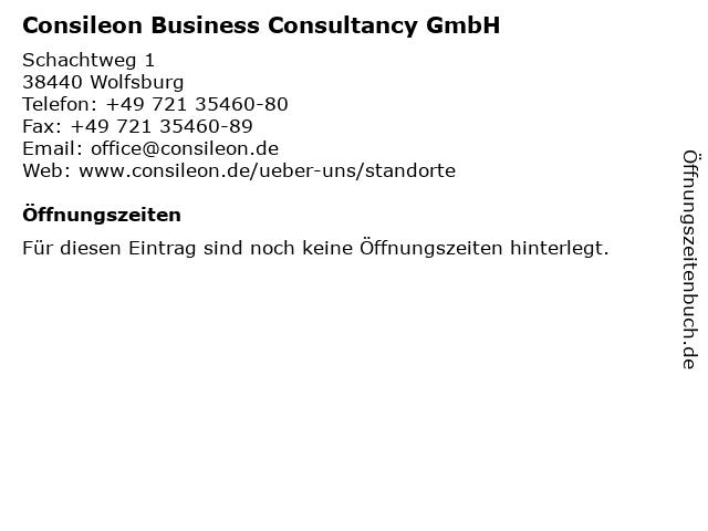 Consileon Business Consultancy GmbH in Wolfsburg: Adresse und Öffnungszeiten