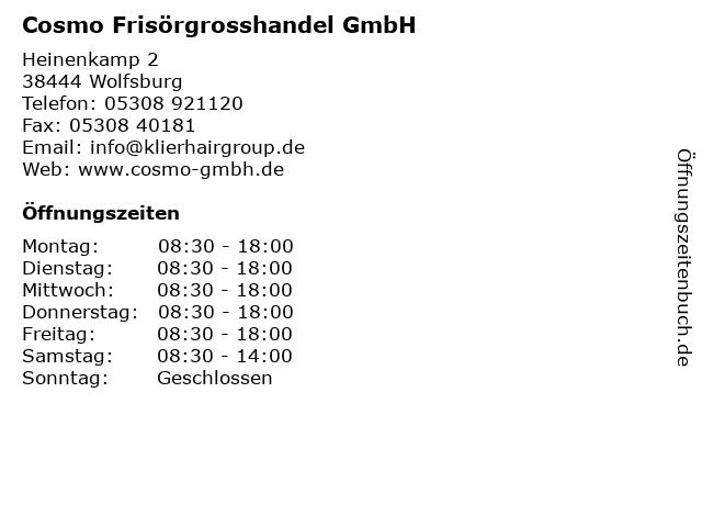 Cosmo Frisörgrosshandel GmbH in Wolfsburg: Adresse und Öffnungszeiten