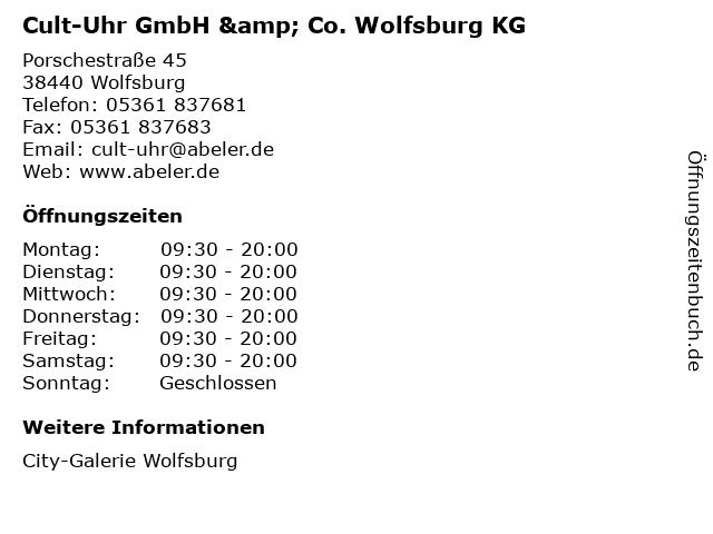 Cult-Uhr GmbH & Co. Wolfsburg KG in Wolfsburg: Adresse und Öffnungszeiten