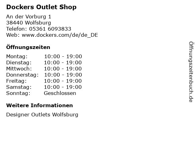 Dockers Outlet Shop in Wolfsburg: Adresse und Öffnungszeiten