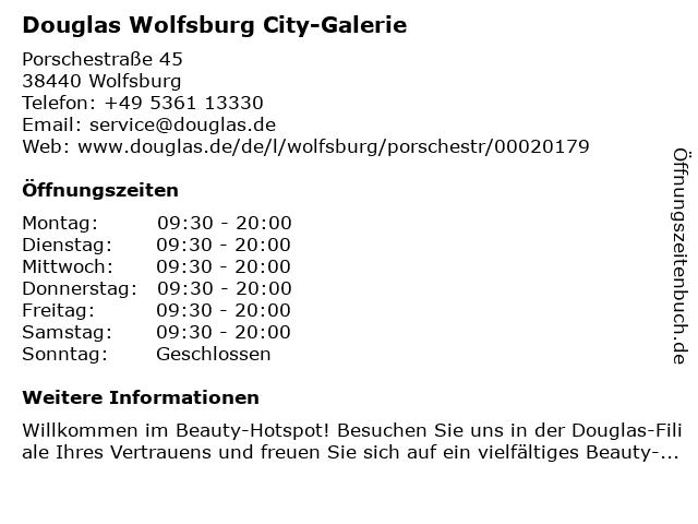 Parfümerie Douglas Wolfsburg in Wolfsburg: Adresse und Öffnungszeiten