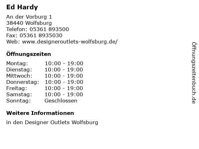 Ed Hardy in Wolfsburg: Adresse und Öffnungszeiten