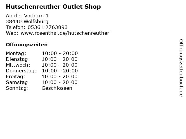Hutschenreuther Outlet Shop in Wolfsburg: Adresse und Öffnungszeiten