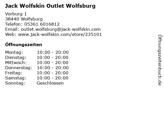 Jack Wolfskin Store in Wolfsburg: Adresse und Öffnungszeiten