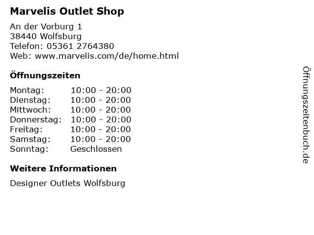 Marvelis Outlet Shop in Wolfsburg: Adresse und Öffnungszeiten