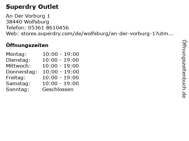Superdry in Wolfsburg: Adresse und Öffnungszeiten