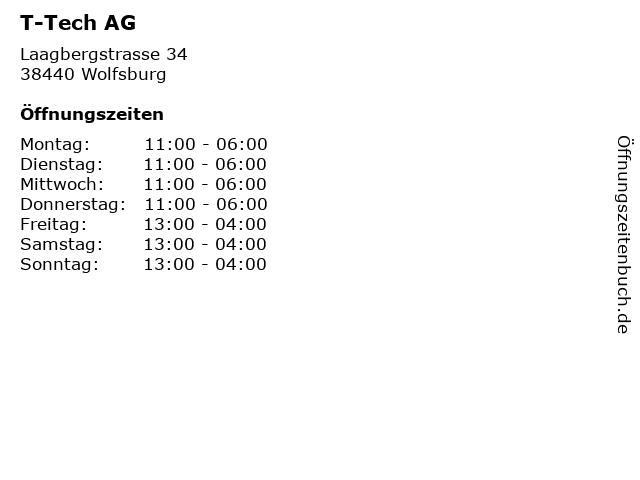 T-Tech AG in Wolfsburg: Adresse und Öffnungszeiten