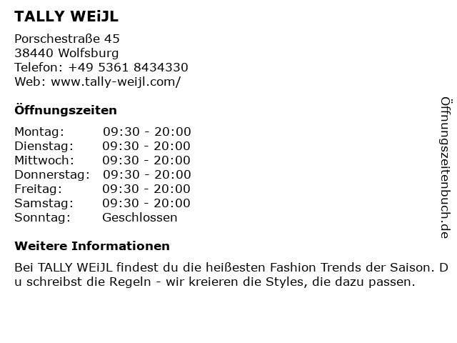 Tally Weijl Deutschland GmbH in Wolfsburg: Adresse und Öffnungszeiten