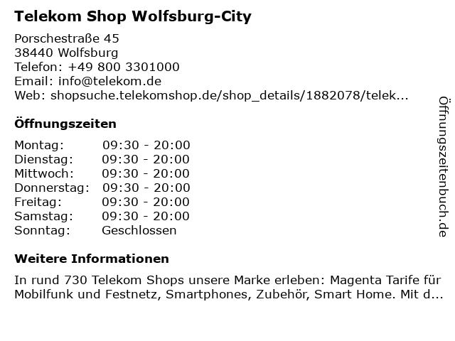 Telekom Shop Wolfsburg-City in Wolfsburg: Adresse und Öffnungszeiten