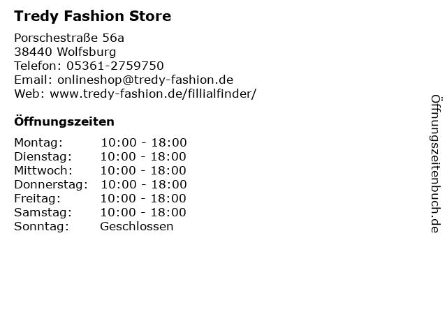Tredy Fashion Store in Wolfsburg: Adresse und Öffnungszeiten