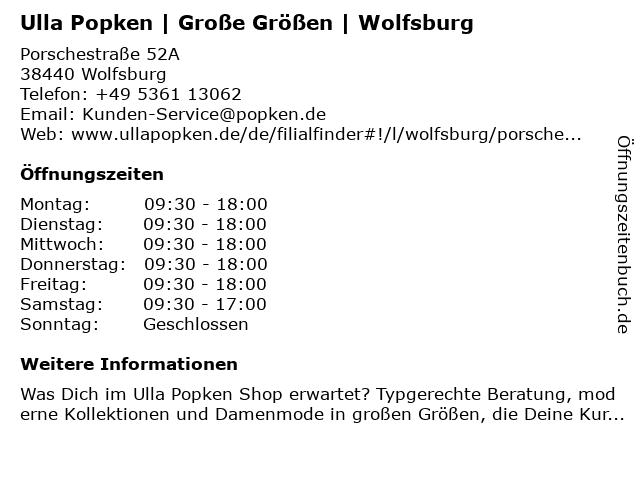 Ulla Popken in Wolfsburg: Adresse und Öffnungszeiten