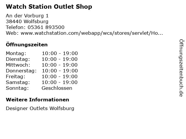 Watch Station Outlet Shop in Wolfsburg: Adresse und Öffnungszeiten