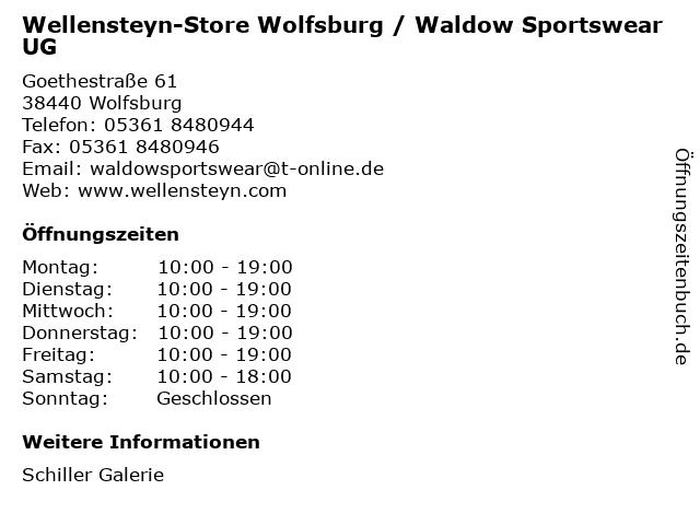 Wellensteyn-Store Wolfsburg / Waldow Sportswear UG in Wolfsburg: Adresse und Öffnungszeiten
