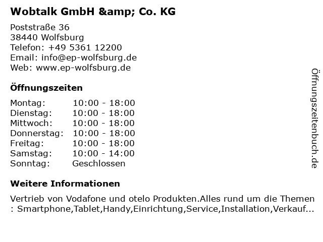 Wobtalk GmbH & Co. KG in Wolfsburg: Adresse und Öffnungszeiten