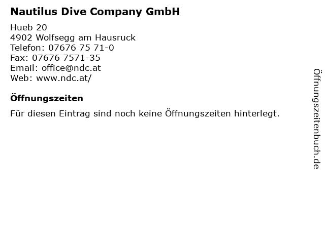 Nautilus Dive Company GmbH in Wolfsegg am Hausruck: Adresse und Öffnungszeiten