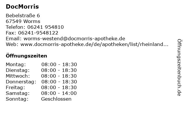 DocMorris in Worms: Adresse und Öffnungszeiten