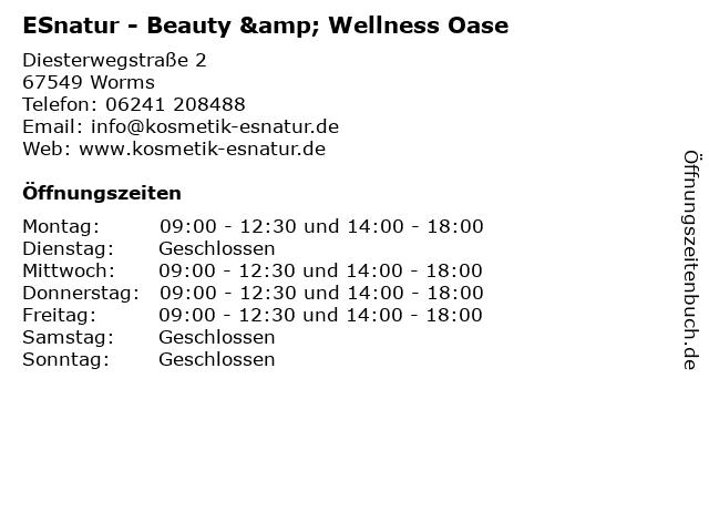 ESnatur - Beauty & Wellness Oase in Worms: Adresse und Öffnungszeiten