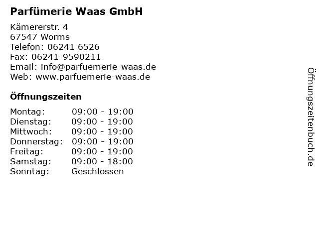 Parfümerie Waas GmbH in Worms: Adresse und Öffnungszeiten