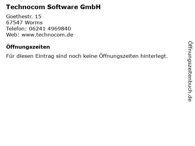 Technocom Software GmbH in Worms: Adresse und Öffnungszeiten