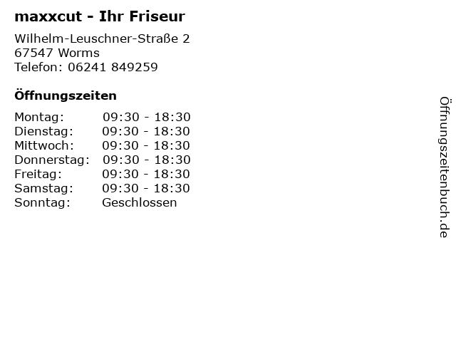 maxxcut - Ihr Friseur in Worms: Adresse und Öffnungszeiten