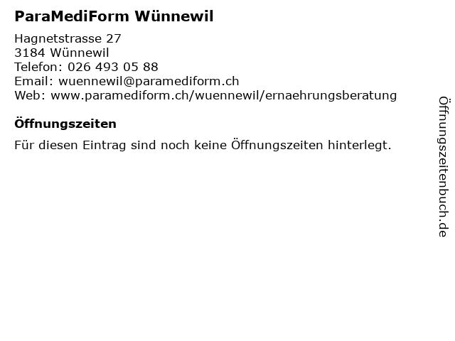ParaMediForm Wünnewil in Wünnewil: Adresse und Öffnungszeiten
