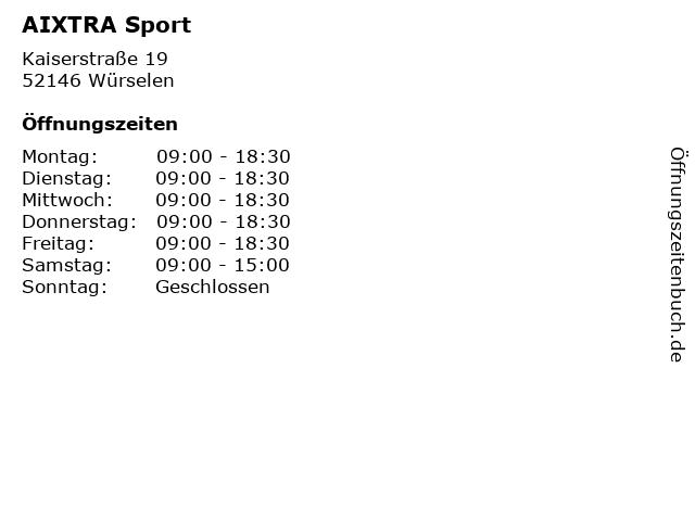 AIXTRA Sport in Würselen: Adresse und Öffnungszeiten