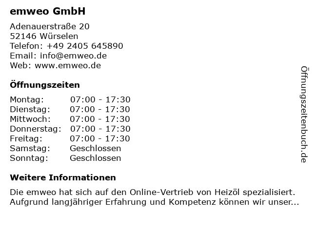 COM-OIL Energie + Service GmbH in Würselen: Adresse und Öffnungszeiten